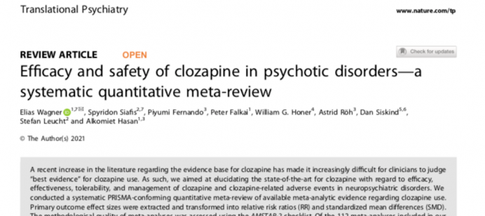 Efficacy and safety of clozapine in psychotic disorders—a systematic quantitative meta-review