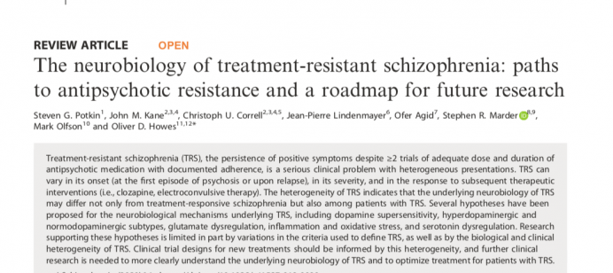 The neurobiology of treatment-resistant schizophrenia: paths to antipsychotic resistance and a roadmap for future research